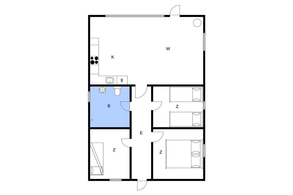 Indretning 1-3 Sommerhus M70246, Skråningen 6, DK - 5970 Ærøskøbing