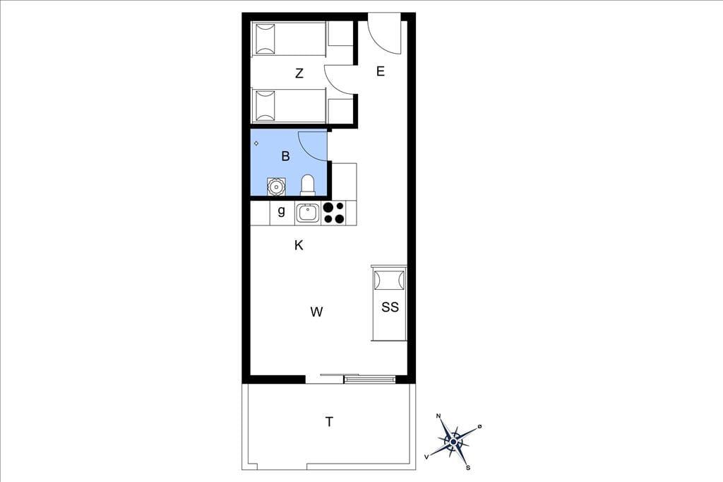 Indretning 20-3 Sommerhus M641901, Grønnevej 8, DK - 5400 Bogense