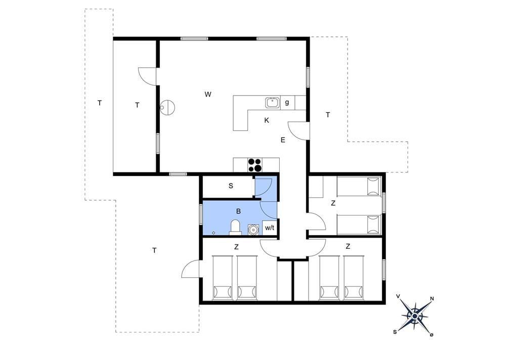 Indretning 1-175 Sommerhus 40063, Hagevej 147, DK - 6990 Ulfborg
