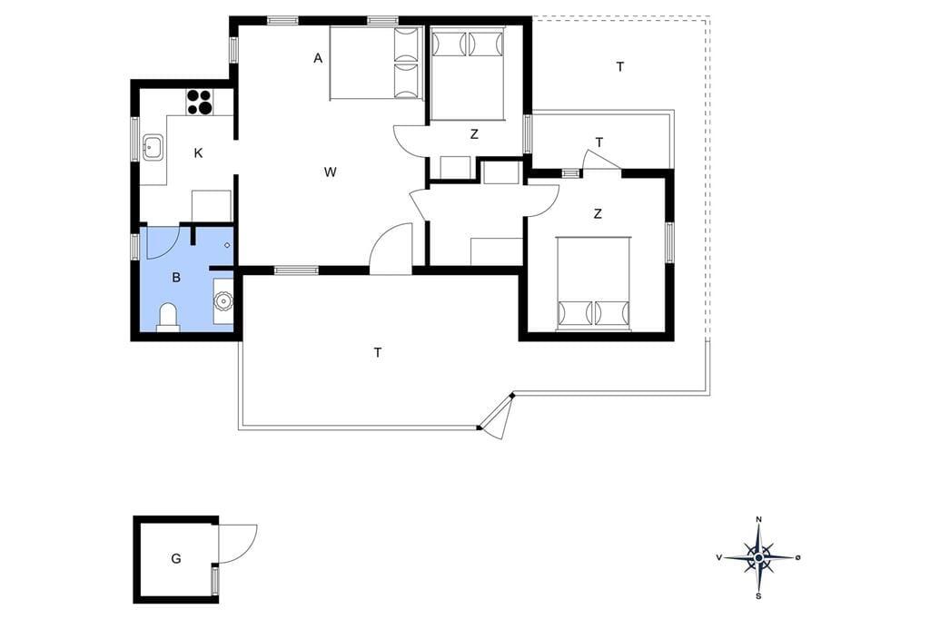 Innenausstattung 1-13 Ferienhaus 329, Sandtornvej 21, DK - 7700 Thisted