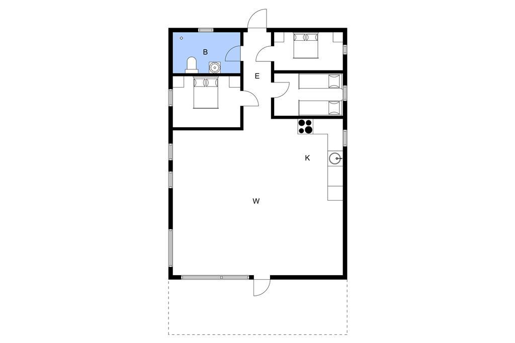 Indretning 1-3 Sommerhus F50170, Trinderupgaard 65, DK - 8643 Ans By