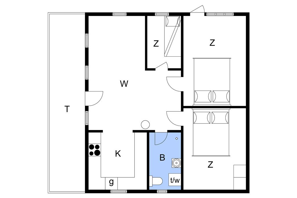Indretning 1-19 Sommerhus 30498, Posmosevej 33, DK - 8300 Odder