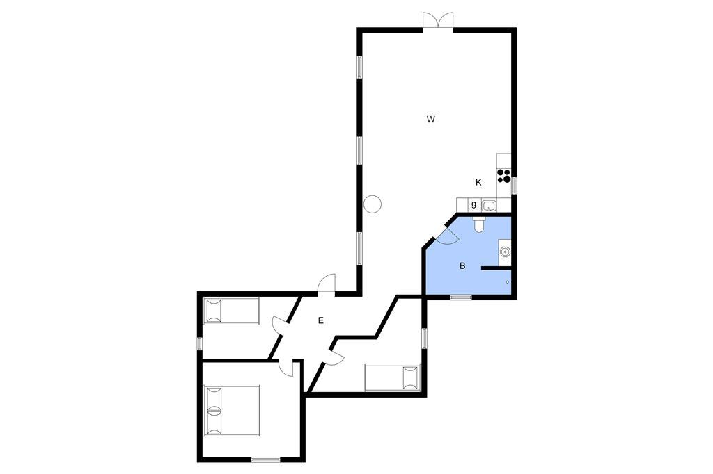 Innenausstattung 1-3 Ferienhaus M67326, Piledybet 52, DK - 5932 Humble