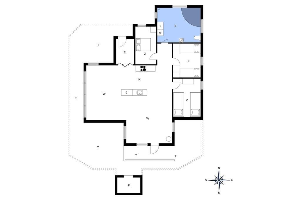 Indretning 1-13 Sommerhus 578, Bredkærvej 29, DK - 7700 Thisted