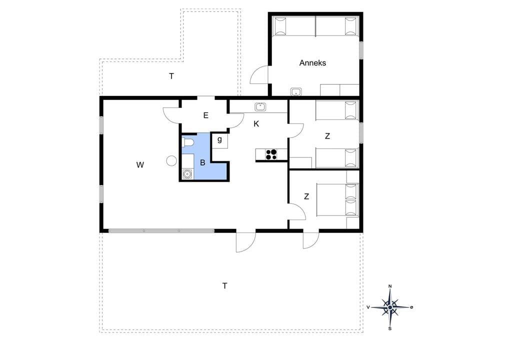 Innenausstattung 1-14 Ferienhaus 822, Ankerhusvej 32, DK - 9492 Blokhus