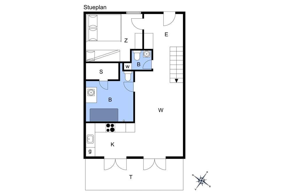 Indretning 1-17 Sommerhus 10115, Bystedvej 10, DK - 4500 Nykøbing Sj