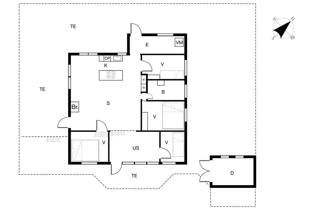 Inredning 1-19 Stuga 40318, Niels Rasmussens Vej 65, DK - 7130 Juelsminde
