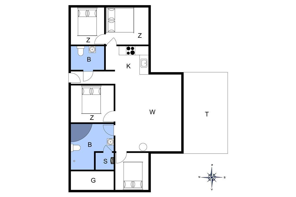 Innenausstattung 1-20 Ferienhaus 132, Neerlandiavej 23, DK - 7673 Harboøre