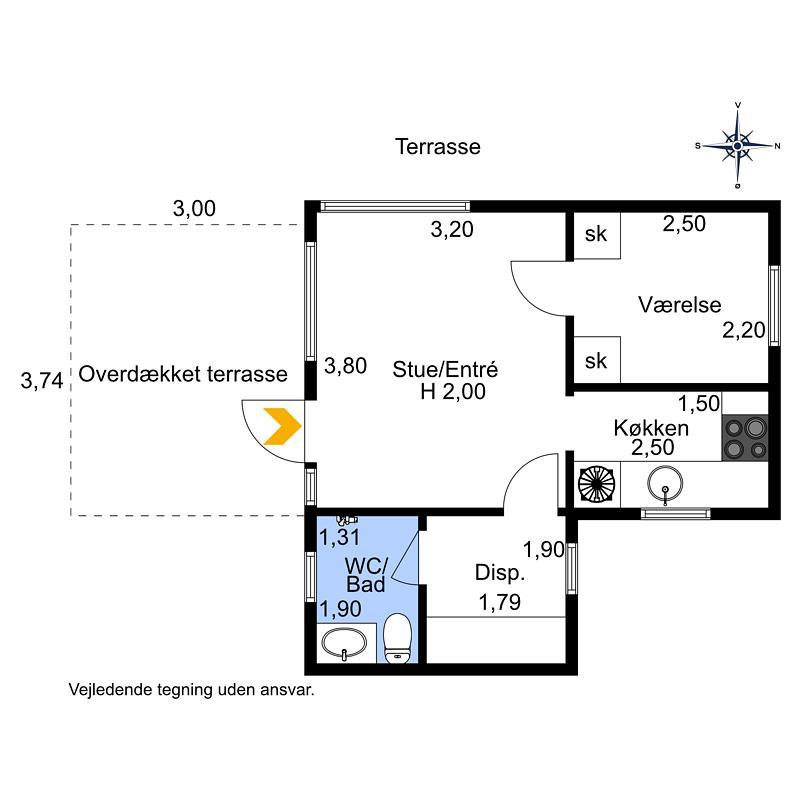 Innenausstattung 1-174 Ferienhaus M17012, Pilehyttevej 7, DK - 4873 Væggerløse
