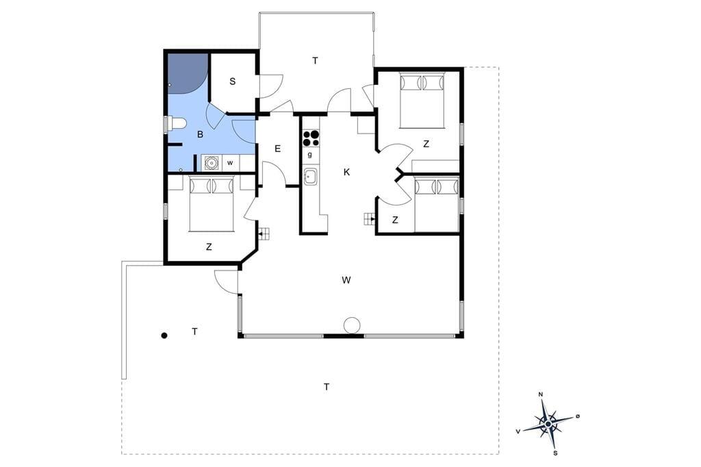 Innenausstattung 1-176 Ferienhaus BL1615, Jægerensvej 16, DK - 9492 Blokhus