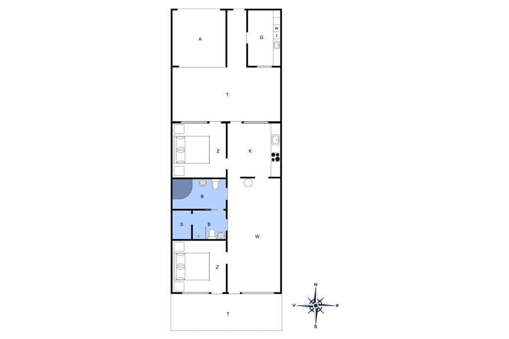 Innredning 1-4 Feirehus 705, Slusen 5, DK - 6960 Hvide Sande