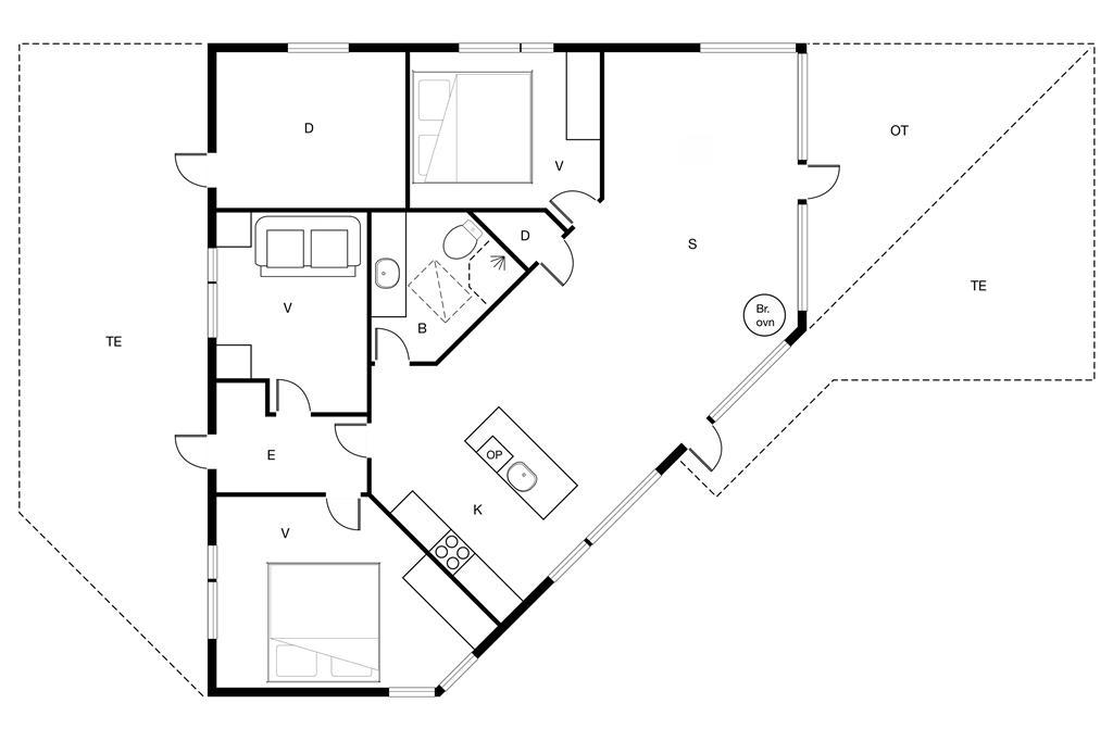 Indretning 1-170 Sommerhus 20502, Havvejen 71, DK - 8305 Samsø