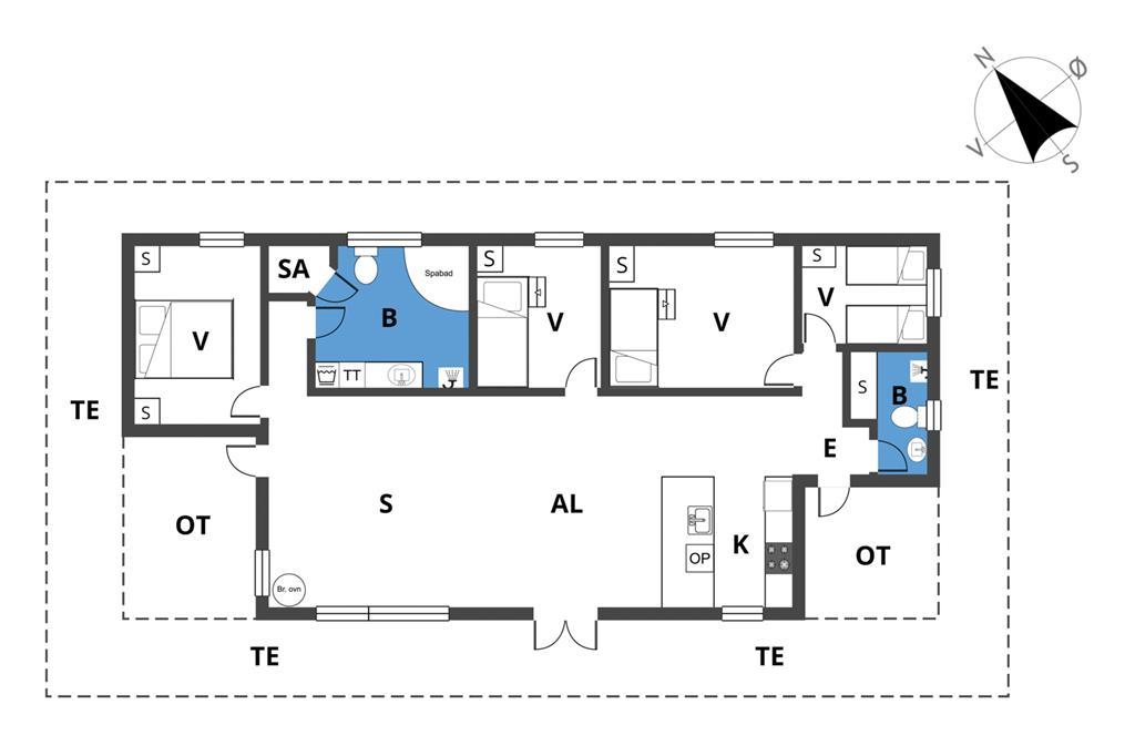 Interieur 1-19 Vakantiehuis 30451, Strandvænget 7, DK - 8300 Odder