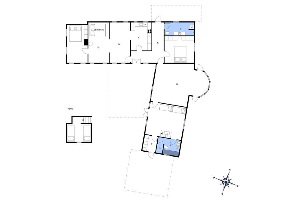 Indretning 1-3 Sommerhus M673651, Botofte Strandvej 13, DK - 5953 Tranekær