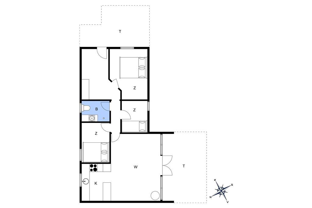 Indretning 1-22 Sommerhus C11189, Horsfold 17, DK - 6893 Hemmet