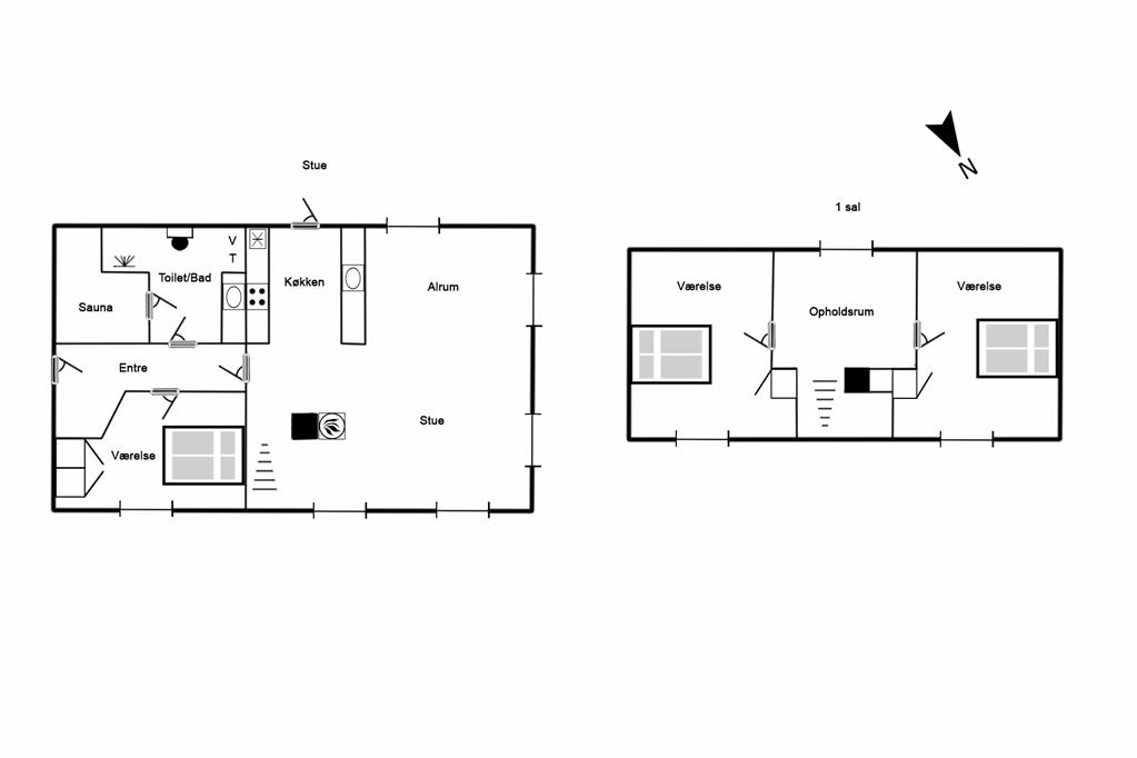 Indretning 1-125 Sommerhus 2137, Porsevej 12, DK - 6854 Henne