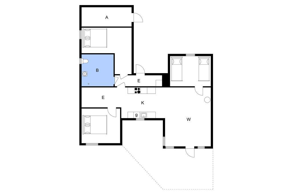 Indretning 1-3 Sommerhus L16301, Navet 13, DK - 9240 Nibe