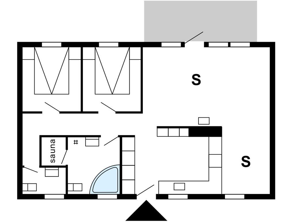 Indretning 1-175 Sommerhus 40709, Skindbjergvej 397, DK - 6990 Ulfborg