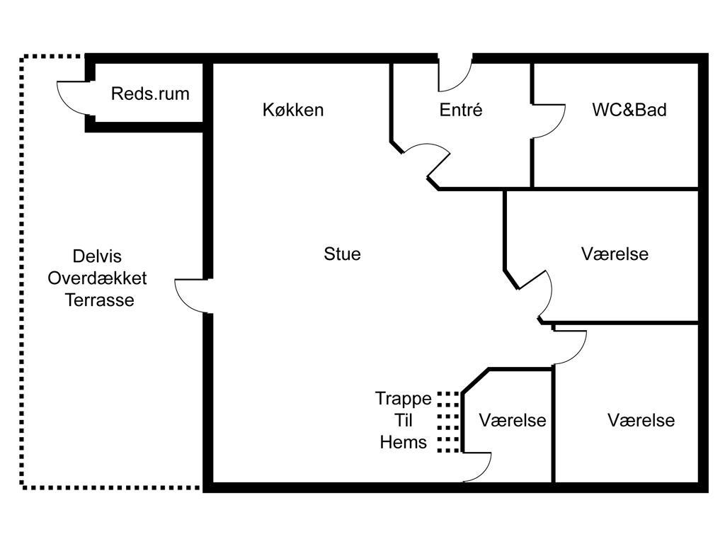 Indretning 1-6 Sommerhus N068, Klintegårdsvej 7, DK - 4736 Karrebæksminde