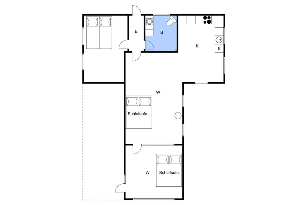 Indretning 1-3 Sommerhus M64212, Castorvej 13, DK - 5500 Middelfart