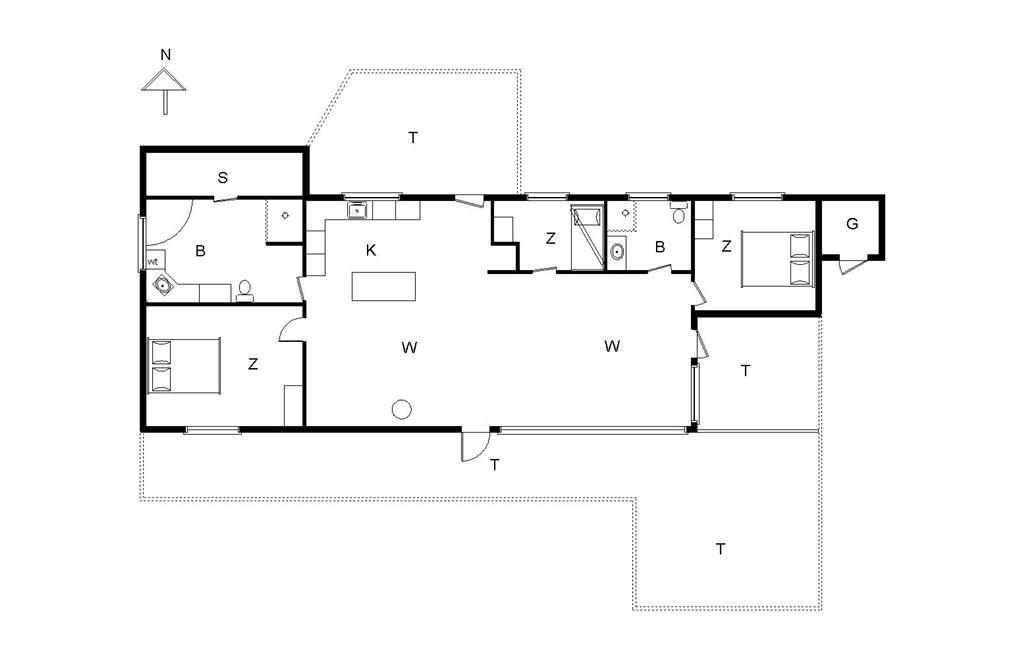 Innredning 1-14 Feirehus 173, Bloksbjerg 88, DK - 9492 Blokhus