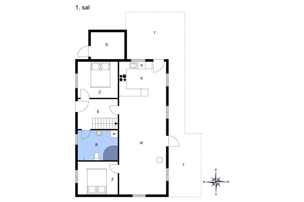 Indretning 1-13 Sommerhus 520, Sarasvej 10, DK - 7752 Snedsted