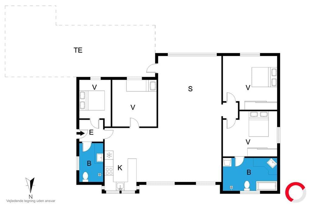Indretning 1-23 Sommerhus 8523, Lærkevej 13, DK - 8500 Grenaa