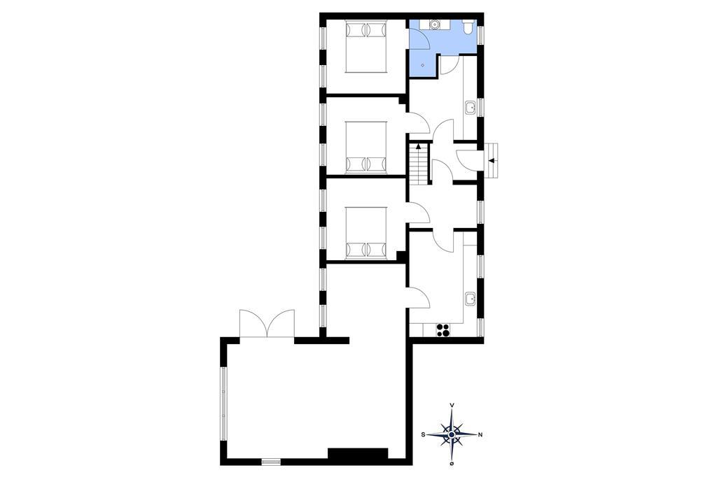 Indretning 1-15 Sommerhus 4310, Nordfeldtvej 42, DK - 4780 Stege