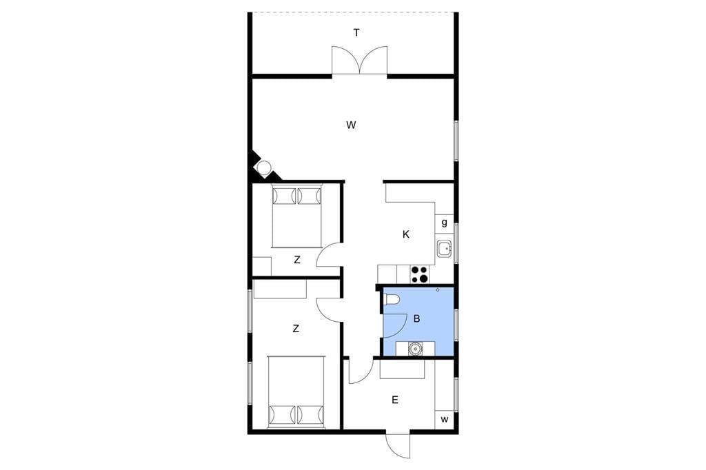 Indretning 1-13 Sommerhus 930, Liusborg Sti 28, DK - 7700 Thisted