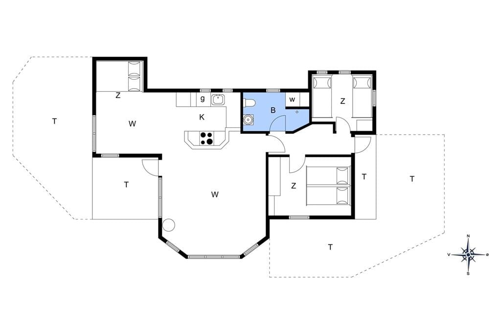 Indretning 1-19 Sommerhus 30445, Skovduevej 1, DK - 8300 Odder