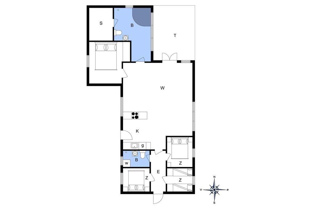 Indretning 1-13 Sommerhus 472, Ingersvej 7, DK - 7770 Vestervig