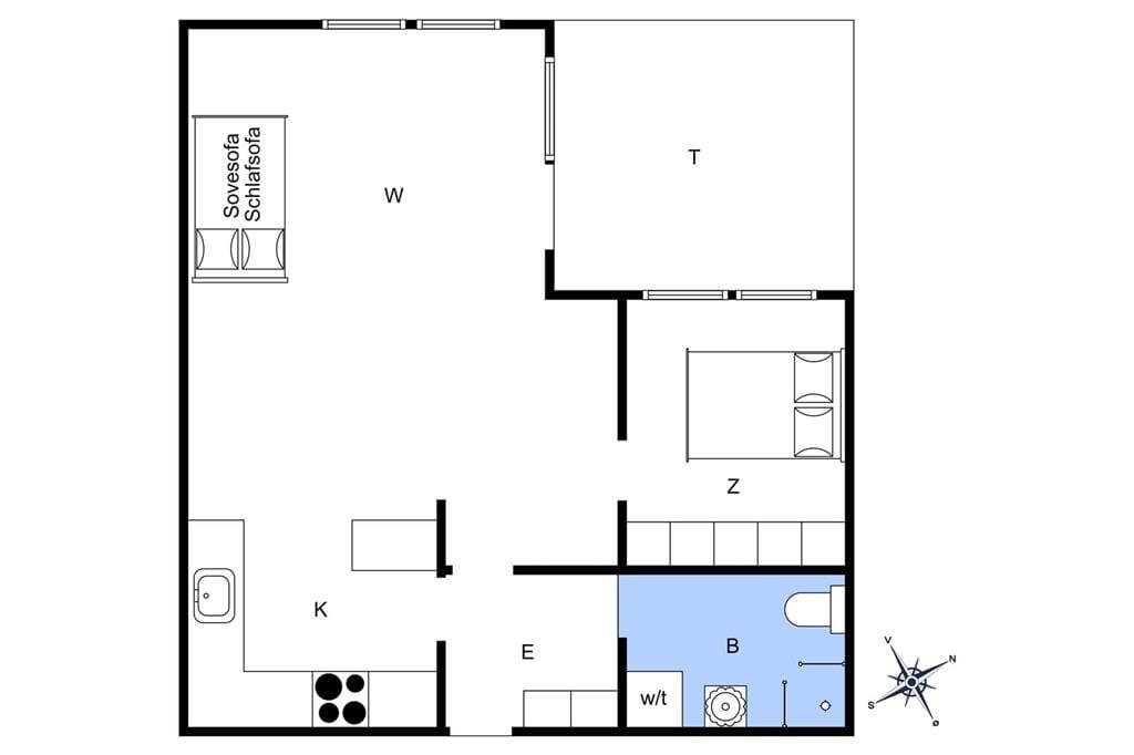 Indretning 1-4 Sommerhus 795, Strandgade 6, DK - 6960 Hvide Sande