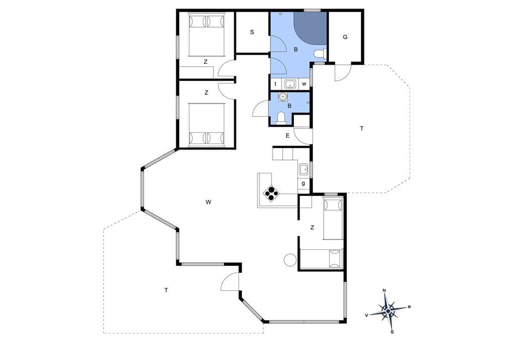 Indretning 1-401 Sommerhus HA270, Athenevej 2, DK - 9370 Hals