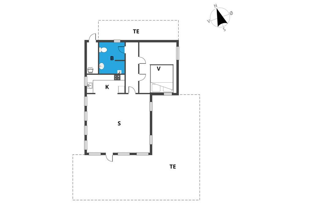 Innenausstattung 24-19 Ferienhaus 30302, Lyngbakkevej 26, DK - 8300 Odder