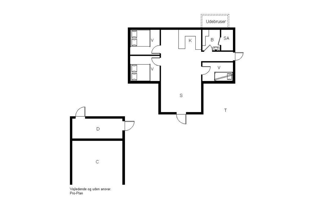 Innredning 1-19 Feirehus 30039, Morbærvænget 3, DK - 8340 Malling