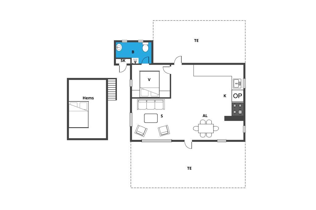 Innenausstattung 1-19 Ferienhaus 40122, Bugten 31, DK - 7130 Juelsminde