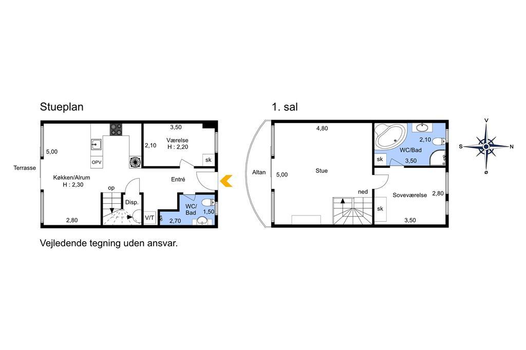 Inredning 1-174 Stuga M13004, Marielyst Strandvej 63, DK - 4873 Væggerløse