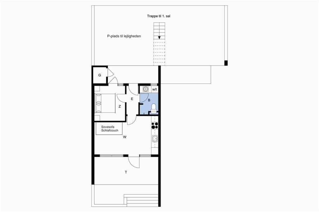 Indretning 1-4 Sommerhus 909, Langsand 104, DK - 6960 Hvide Sande
