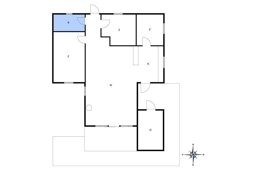 Indretning 1-10 Sommerhus 1536, Søhøjbakken 18, DK - 3720 Aakirkeby