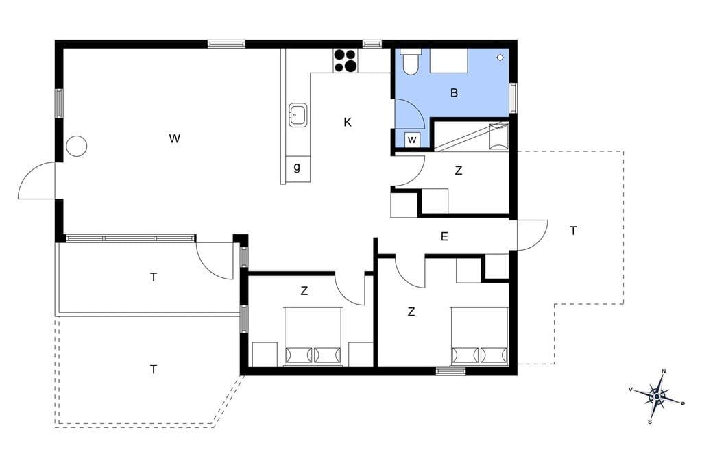 Indretning 1-14 Sommerhus 165, Septimusvej 23, DK - 9492 Blokhus
