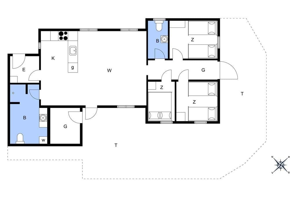 Indretning 1-13 Sommerhus 511, Blåbærvej 16, DK - 7700 Thisted