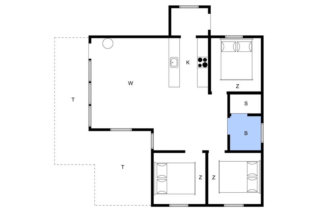 Innenausstattung 1-4 Ferienhaus 513, Riskrogvej 16, DK - 6960 Hvide Sande