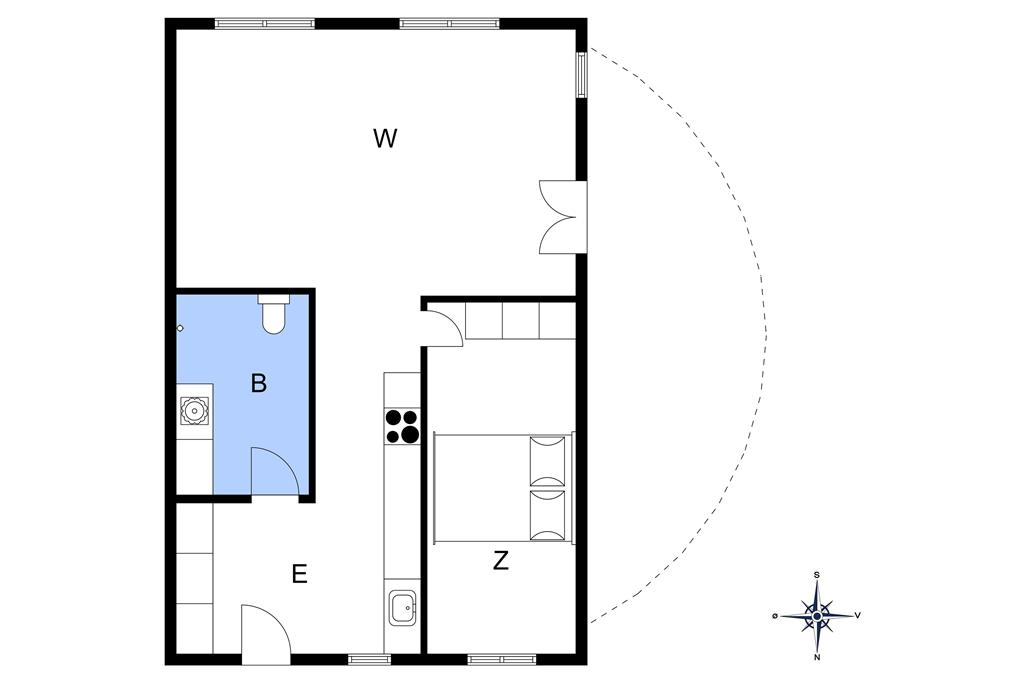 Innredning 1-11 Feirehus 0402, Nørre Frankel 1, DK - 6792 Rømø