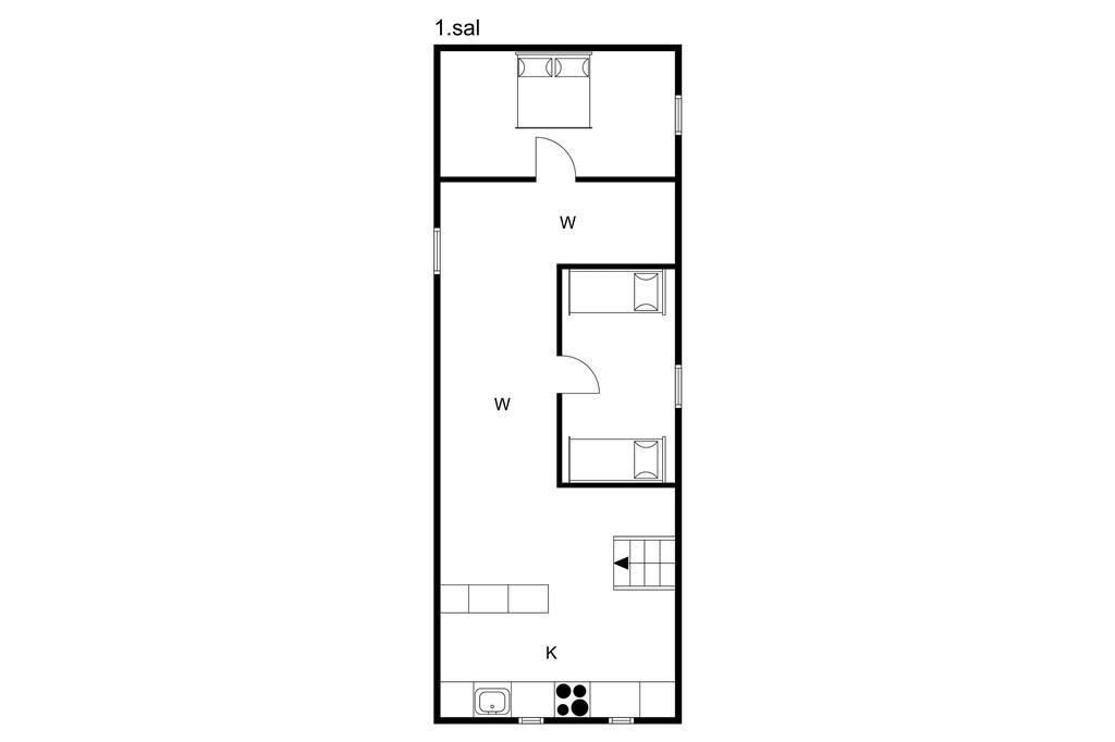Indretning 1-3 Sommerhus M65520, Tobovej 80, DK - 5690 Tommerup