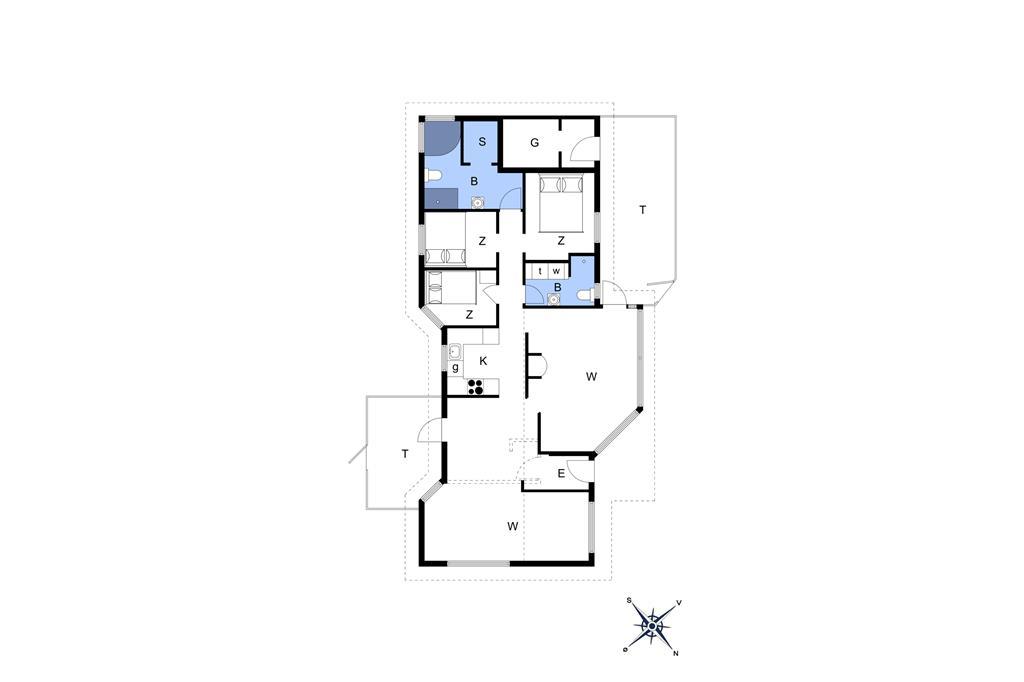 Indretning 1-14 Sommerhus 1291, Klitvejen 33, DK - 9492 Blokhus