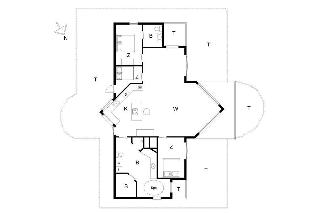 Interieur 1-176 Vakantiehuis BL861, Pirupshvarrevej 49, DK - 9492 Blokhus