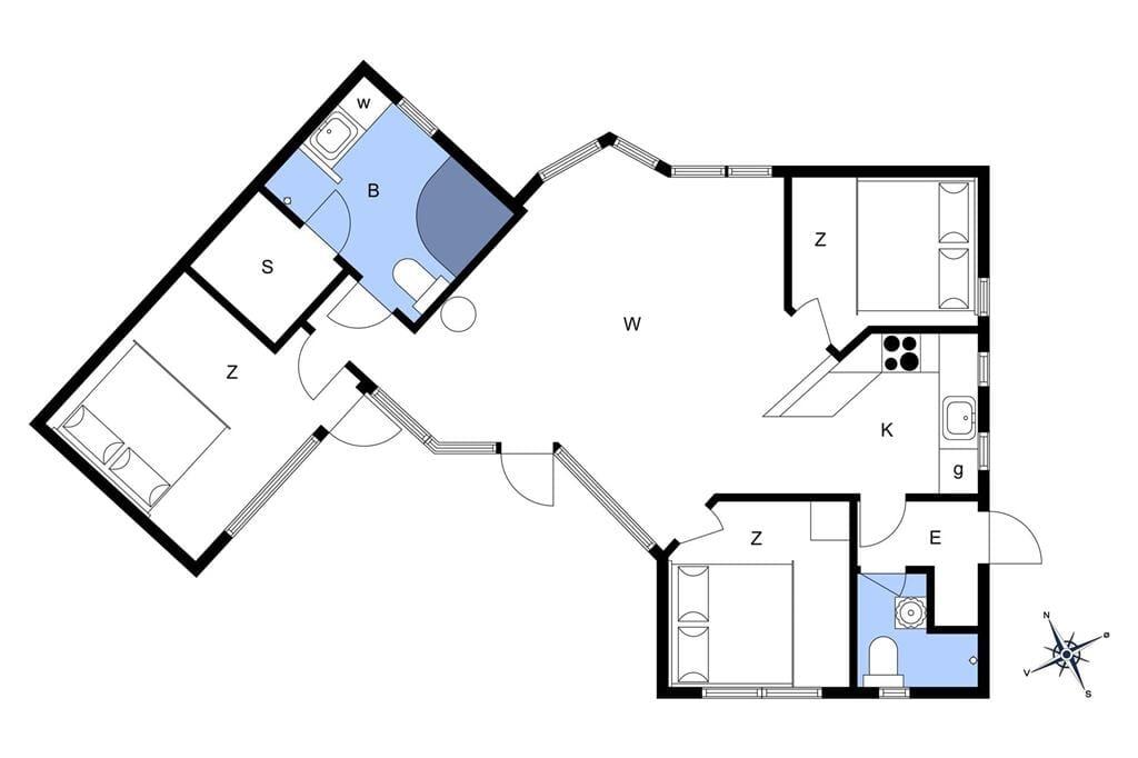 Indretning 1-17 Sommerhus 13375, Roarsgård 3, DK - 4560 Vig