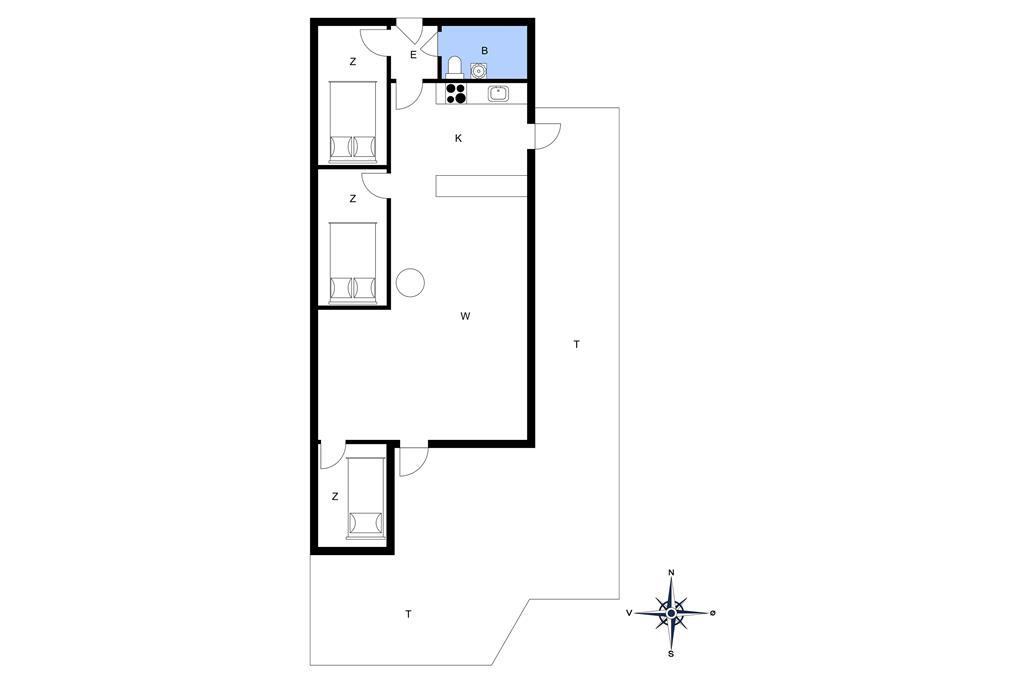 Indretning 1-20 Sommerhus 123, Vejlby Klit 83, DK - 7673 Harboøre