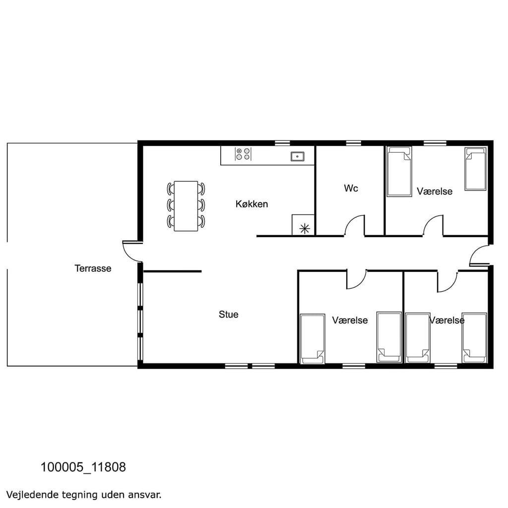 Indretning 1-17 Sommerhus 11808, Søvang 18, DK - 4500 Nykøbing Sj