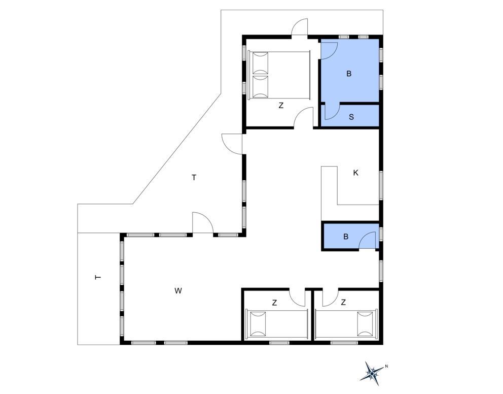 Innredning 1-10 Feirehus 1505, Sluseparken 8, DK - 3720 Aakirkeby